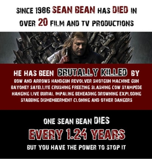 Sean Bean Death Statistics